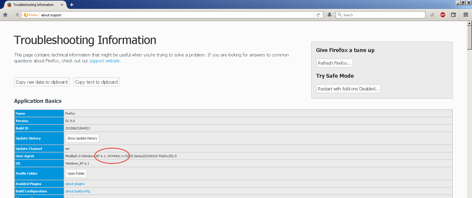 Firefox 32bit version