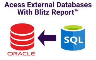 Accessing External Databases with Blitz Report