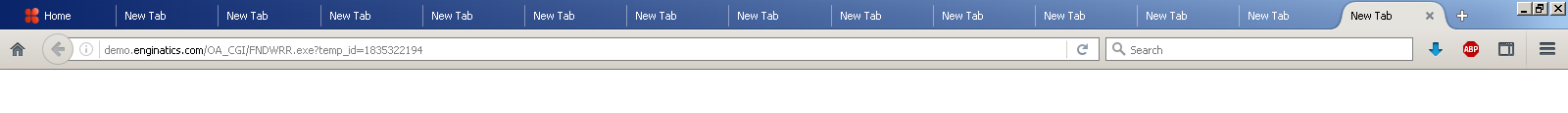 New tabs opened by Oracle EBS Blitz Report download