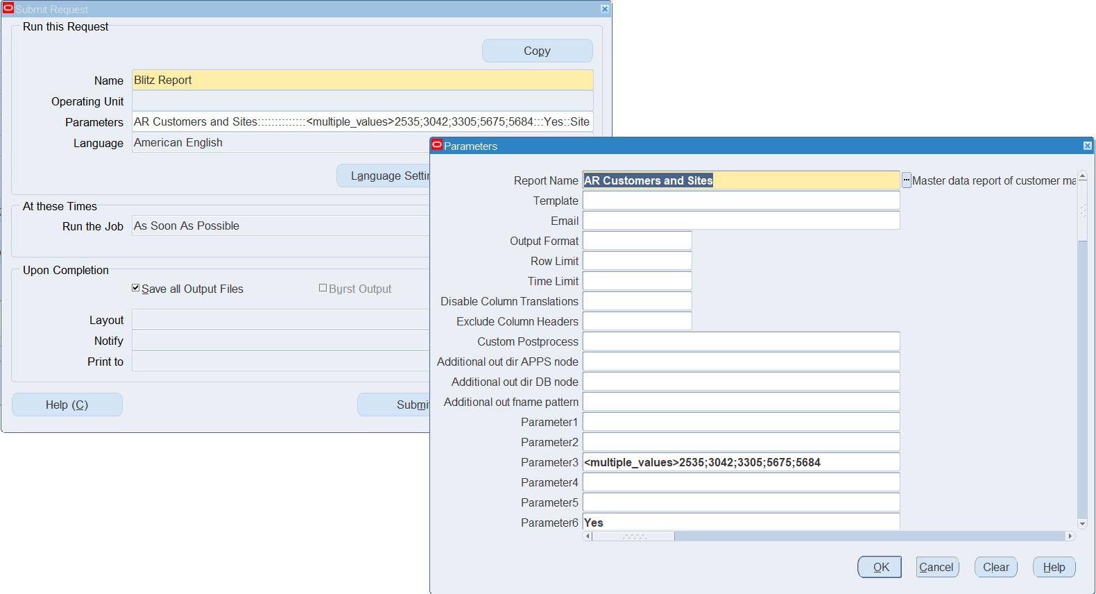 Blitz Report custom postprocess
