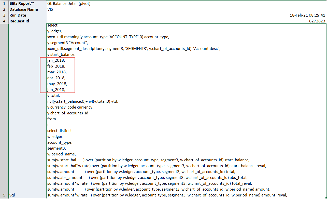 Dynamic parameter SQL text example